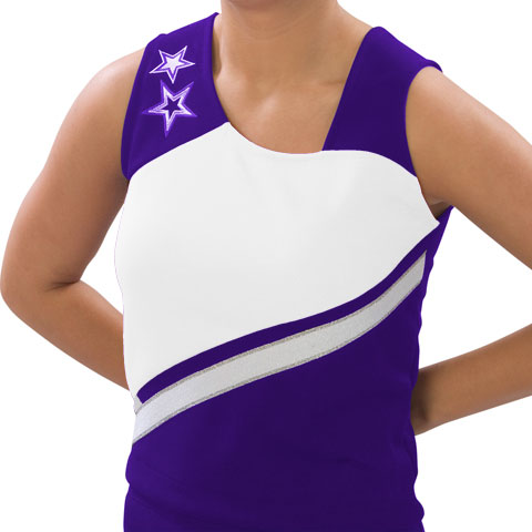 Pizzazz Performance Wear UT75 -PURWHT-AS UT75 Adult Supernova Uniform Shell - Purple with White - Adult Small