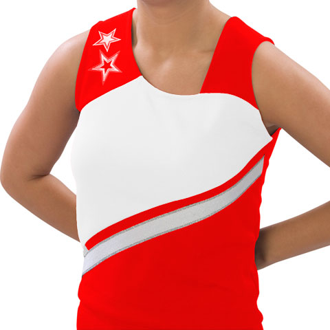 Pizzazz Performance Wear UT75 -REDWHT-AM UT75 Adult Supernova Uniform Shell - Red with White - Adult Medium