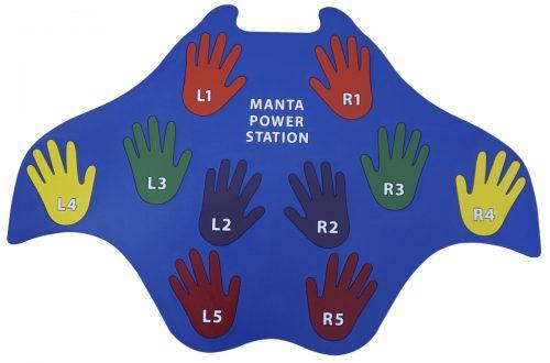 Poly Enterprises 1569067 0.25 in. Manta Power Station Blue