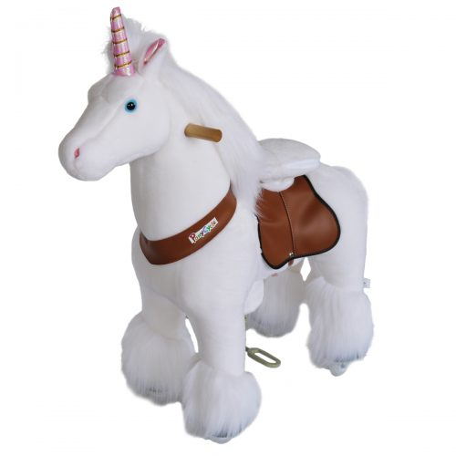 PonyCycle N3042 Ride On Horse No Need Battery Non Electric Unircon-Small White