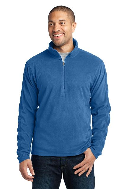 Port Authority F224 Microfleece 1 by 2-Zip Pullover Light Royal - Extra Small