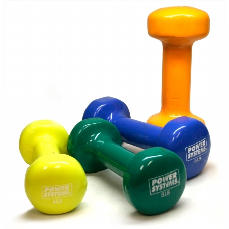 Power Systems 61715 15 lbs Deluxe Vinyl Dumbbell