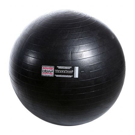 Power Systems 80018 55cm VersaBall Stability Ball - Jet Black