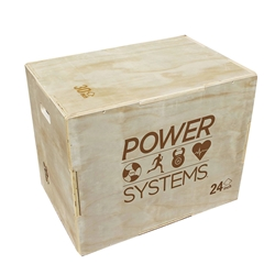 PowerSystems 20690 3 in 1 Plyo Box - Wood