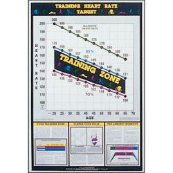 PowerSystems 69970 24 x 36 in. Training Heart Rate Chart
