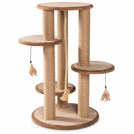 Prevue Hendryx 7150 Kitty Power Paws Multi-Tier Cat Scratching Post