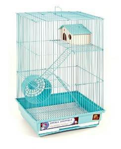 Prevue Pet Products 48081203019 Three Story Hamster & Gerbil Cage with Exercise Wheel
