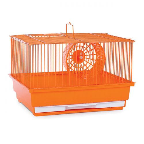 Prevue Pet Products SP2000OR Prevue Hendryx Single Story Hamster & Gerbil Cage- Orange