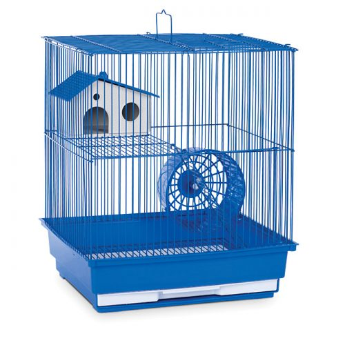 Prevue Pet Products SP2010B Prevue Hendryx Two Story Hamster & Gerbil Cage- Blue