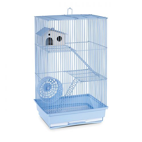 Prevue Pet Products SP2030B Prevue Hendryx Three Story Hamster & Gerbil Cage- Light Blue