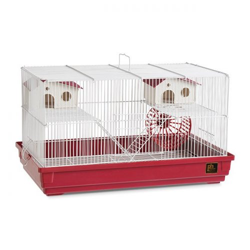 Prevue Pet Products SP2060R Prevue Hendryx Deluxe Hamster & Gerbil Cage- Bordeaux Red