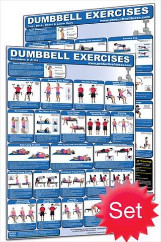 Productive Fitness CD-Set Dumbbell Poster Set - Laminated only