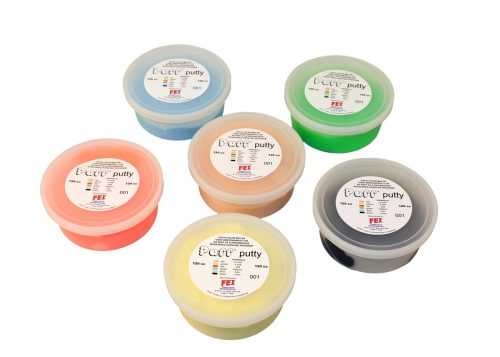 Puff Lite 10-1426 120cc Exercise Putty - 6 Piece