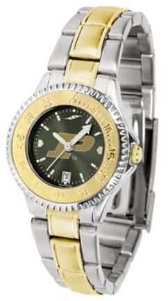 Purdue Boilermakers Competitor AnoChrome Ladies Watch with Two-Tone Band
