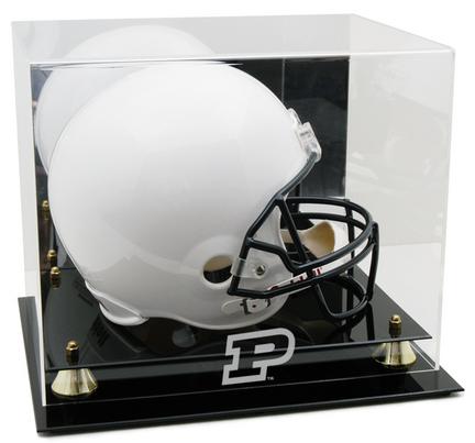 Purdue Boilermakers Logo Golden Classic Full Size Helmet Display Case