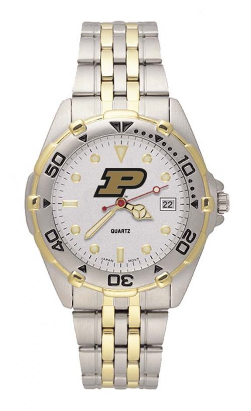 "Purdue Boilermakers ""P"" All Star Watch with Stainless Steel Band - Men's"