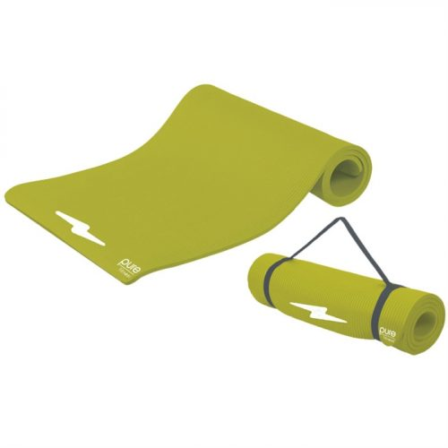 Pure Global Brands 8624FML Fitness Deluxe 12mm Exercise Mat - Lime