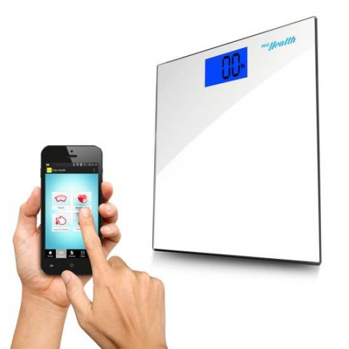 Pyle PHLSCBT2WT Bluetooth Digital Weight Scale and Pyle Health App White