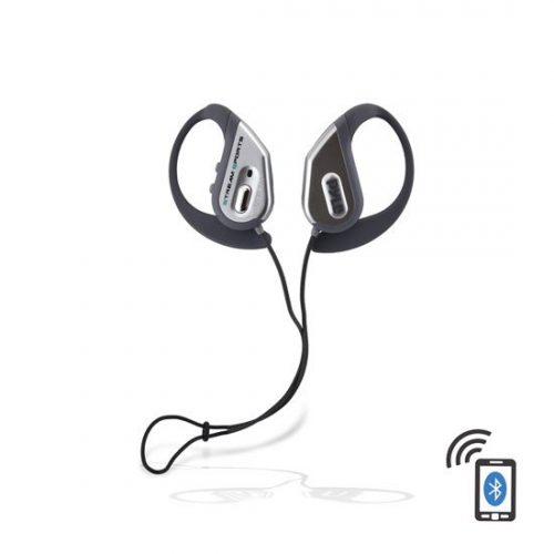Pyle PWBH18SL Bluetooth Water Resistant Headphones with Built-in Microphone for Hands-Free Call Answering Silver