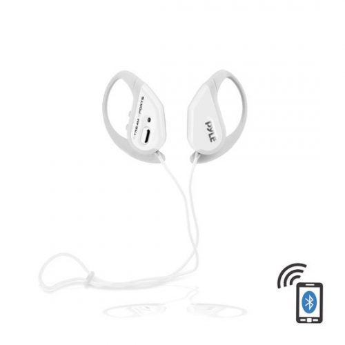 Pyle PWBH18WT Bluetooth Water Resistant Headphones with Built-in Microphone for Hands-Free Call Answering White