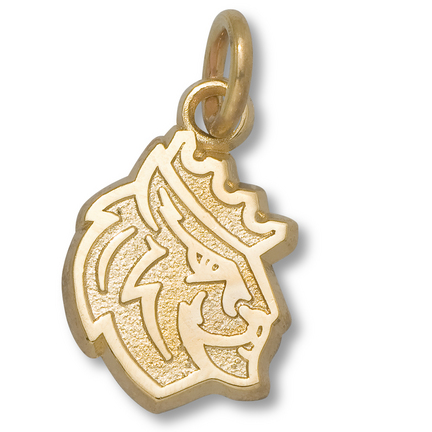 "Queens (Charlotte) Royals 1/2"" Lion Charm - 14KT Gold Jewelry"