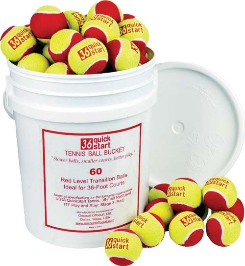 Quick Start 36 Tennis Balls (Bucket of 60 Balls)