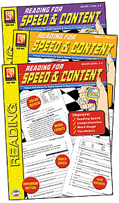 REMEDIA PUBLICATIONS REM1043 READING FOR SPEED AND CONTENT 3 BK SET