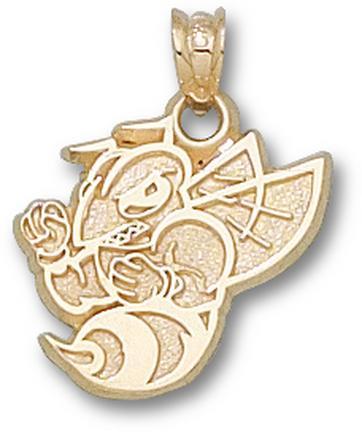 "Randolph Macon Yellow Jackets New ""Yellow Jacket"" Pendant - 10KT Gold Jewelry"