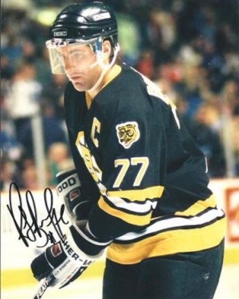 "Ray Bourque ""Action"" Autographed Boston Bruins 8"" x 10"" Photograph Hall of Famer (Unframed)"