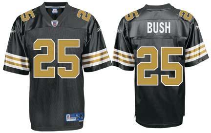 Reggie Bush New Orleans Saints #25 Premier Reebok NFL Football Jersey (Alternate Black)