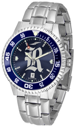 Rice Owls Competitor AnoChrome Men's Watch with Steel Band and Colored Bezel