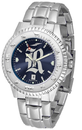 Rice Owls Competitor AnoChrome Men's Watch with Steel Band