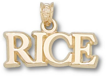 "Rice Owls ""Rice"" Pendant - 10KT Gold Jewelry"