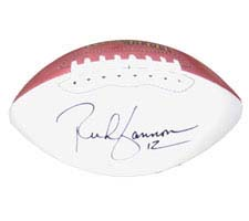 Rich Gannon, Autographed Official Wilson Robby Single White Panel Football