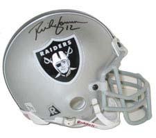 Rich Gannon, Oakland Raiders Autographed Riddell Authentic Mini Football Helmet