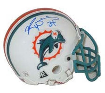 Ricky Williams Autographed Miami Dolphins Riddell Authentic Mini Helmet