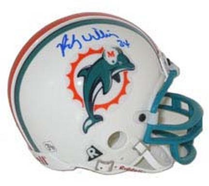 Ricky Williams Autographed Miami Dolphins Riddell Replica Mini Helmet