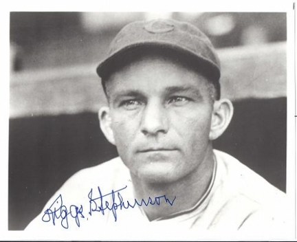 """Riggs Stephenson Autographed Chicago Cubs 8"""" x 10"""" Photograph (Deceased) (Unframed)"""