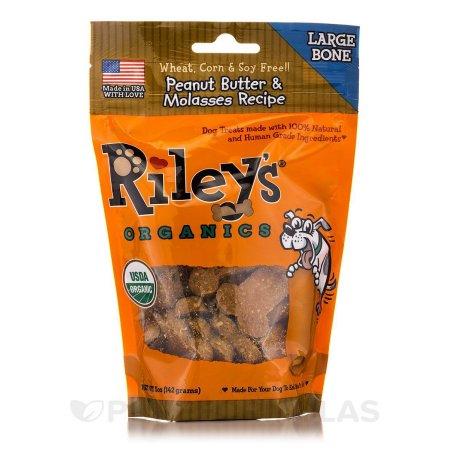 Rileys Organics 1808195 Peanut Butter & Molasses Treats 5 oz - Case of 5