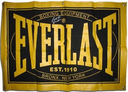 "Roberto Duran Autographed Everlast Display 23"" x 36"" Flag"