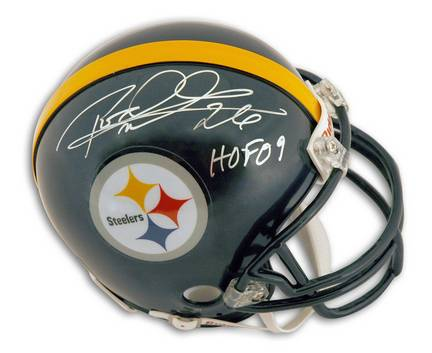 "Rod Woodson Autographed Pittsburgh Steelers Mini Football Helmet Inscribed with ""HOF 09"