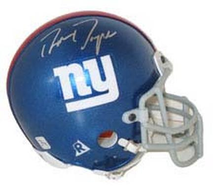 Ron Dayne, 2000 New York Giants Autographed Riddell Authentic Mini Football Helmet