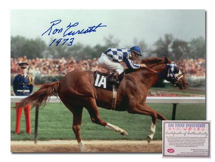 """Ron Turcotte Secretariat Horse Racing Autographed Kentucky Derby """"Triple Crown Winner 1973 Color"""" 16"""" x 20"""" Photograph"""