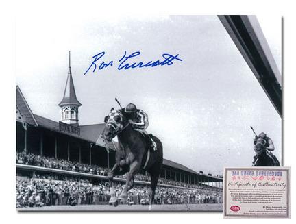 "Ron Turcotte Secretariat Horse Racing Autographed ""Triple Crown Winner 1973 Black and White"" 16"" x 20"" Photograph"