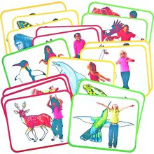 Roylco Inc. R-62010 Body Poetry Animal Action Cards