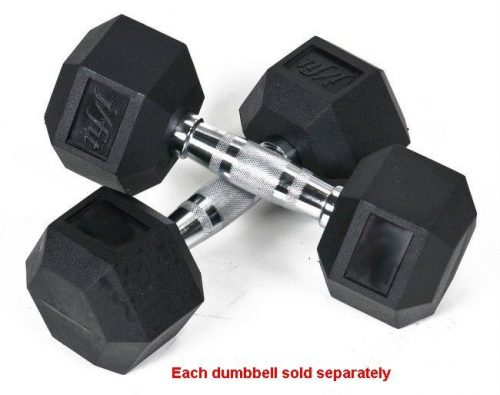 Rubber Coated Hex Dumbbell 6 lb Single