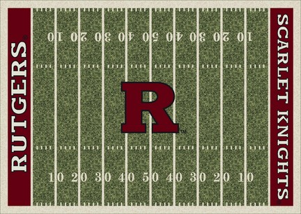 """Rutgers Scarlet Knights 3' 10"""" x 5' 4"""" Home Field Area Rug"""