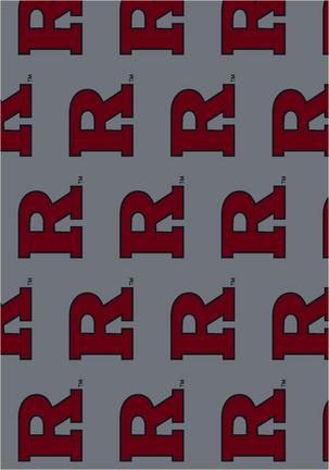 """Rutgers Scarlet Knights 3' 10"""" x 5' 4"""" Team Repeat Area Rug"""