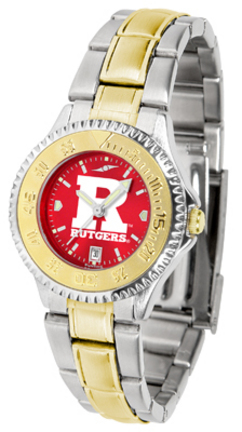 Rutgers Scarlet Knights Competitor AnoChrome Ladies Watch with Two-Tone Band