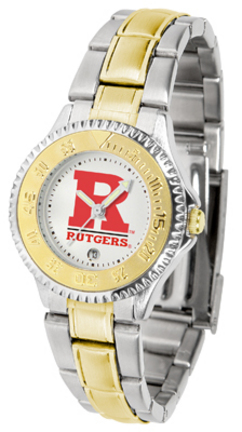 Rutgers Scarlet Knights Competitor Ladies Watch with Two-Tone Band